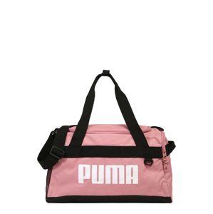 PUMA Sportovní taška 'Challenger Duffel'  růžová / černá