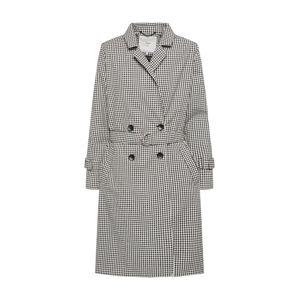 Minimum Přechodný kabát 'Zophie'  černá / bílá