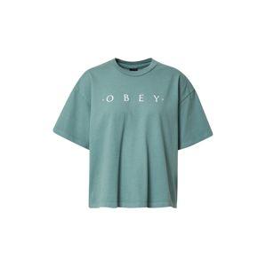 Obey Tričko  modrá