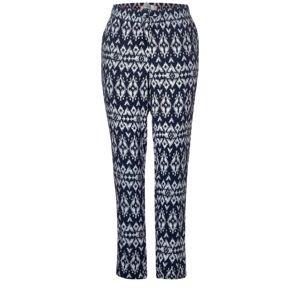 CECIL Kalhoty  bílá / tmavě modrá