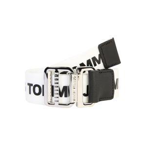 Tommy Jeans Opasek 'Webbing Belt 3.5'  bílá / černá
