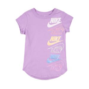 Nike Sportswear Tričko  fialová / bílá / jasně oranžová / lososová / nebeská modř