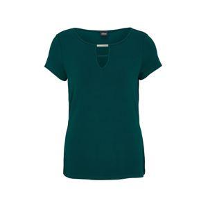 s.Oliver BLACK LABEL Tričko  smaragdová
