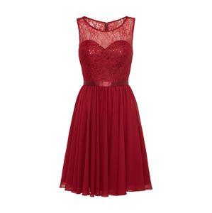 Mascara Koktejlové šaty  tmavě červená