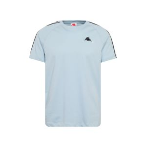 KAPPA Tričko 'Finley'  světlemodrá / černá / bílá