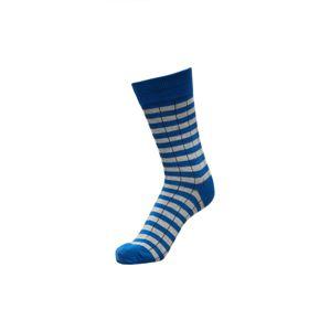 SELECTED Ponožky  modrá / světle šedá / námořnická modř
