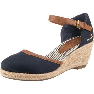 TOM TAILOR Páskové sandály  měděná / námořnická modř