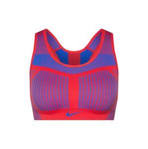 NIKE Sportovní podprsenka 'FE/NOM Flyknit High Support Sports Bra'  modrá / červená