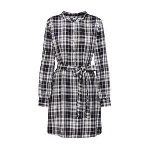 GAP Košilové šaty  černá / offwhite