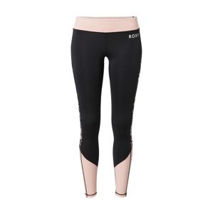 ROXY Sportovní kalhoty  černá / růžová / opálová / oranžová