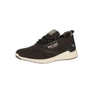 MUSTANG Sportovní šněrovací boty  bílá / šedá / černá