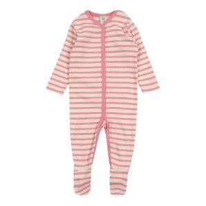 SANETTA Dupačky/body 'Overall Striped'  růžová