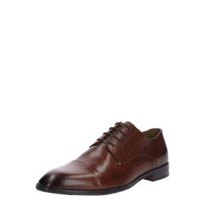 Gordon & Bros Šněrovací boty 'Mirco'  tmavě hnědá