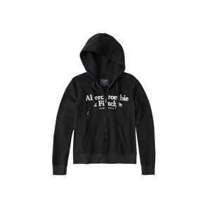 Abercrombie & Fitch Mikina s kapucí 'SB19-LONG LIFE LOGO F/Z'  černá