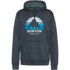 BURTON Sportovní mikina 'Oak'  antracitová / bílá / aqua modrá