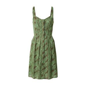 Noisy May Letní šaty 'NMFLORA'  zelená / bílá