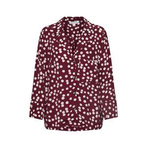 Whistles Halenka 'ILLUSTRATED FLOWER SHIRT'  burgundská červeň
