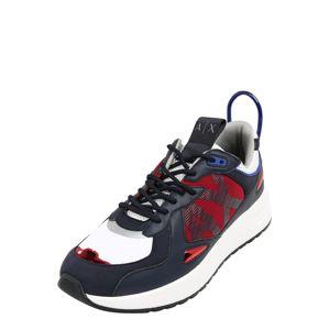 ARMANI EXCHANGE Tenisky  bílá / červená / námořnická modř