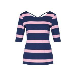 EDC BY ESPRIT Tričko  námořnická modř / růžová