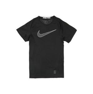 NIKE Funkční tričko  černá / bílá