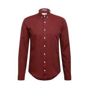 Lindbergh Košile 'Mouliné'  červená