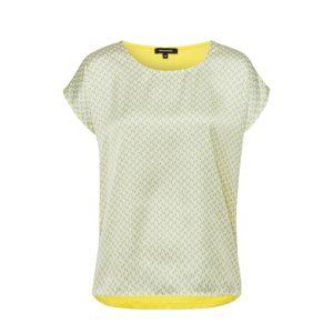 MORE & MORE Tričko  bílá / žlutá / stříbrná