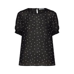 PIECES Tričko 'AMALIE'  černá / bílá