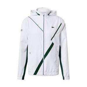 Lacoste Sport Sportovní bunda 'Taffetas Diamante'  zelená / bílá