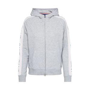 GANT Mikina s kapucí  béžová / světle šedá / šedý melír