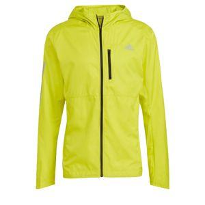 ADIDAS PERFORMANCE Sportovní bunda 'Own the Run'  svítivě žlutá / světle šedá