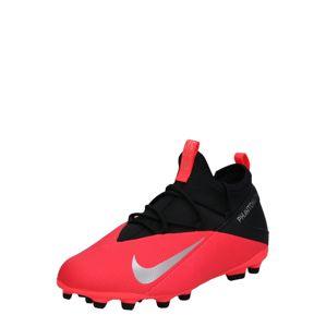 NIKE Sportovní boty 'Jr. Phantom Vision 2 Club'  svítivě červená / černá / stříbrně šedá