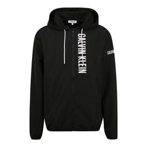 Calvin Klein Swimwear Přechodná bunda  černá / bílá
