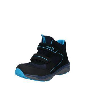 SUPERFIT Kozačky  černá / svítivě modrá
