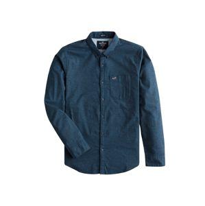 HOLLISTER Košile 'BTS19-LS SLIM SOLID OXFORD 3CC'  námořnická modř