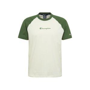 Champion Authentic Athletic Apparel Tričko  bílá / zelená
