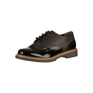 S.Oliver Šněrovací boty  černá