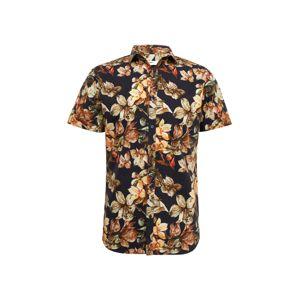JACK & JONES Košile 'JPRCOSTA PRINT SHIRT S/S SF19'  námořnická modř / mix barev