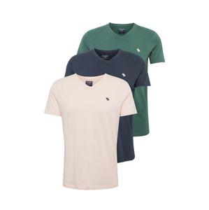 Abercrombie & Fitch Tričko 'FRINGE MULTIPACK COLOR V'  modrá / zelená / růžová
