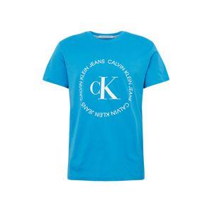 Calvin Klein Jeans Tričko  modrá / bílá