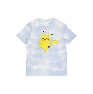 Abercrombie & Fitch Tričko  světlemodrá / bílá / žlutá / černá / hnědá