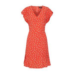 SET Šaty  oranžově červená / bílá
