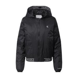 Calvin Klein Jeans Přechodná bunda  bílá / černá