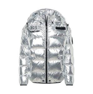 DIESEL Zimní bunda 'W-SMITH-SILVER JACKE'  stříbrná