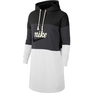 Nike Sportswear Šaty  tmavě šedá / černá / světle šedá
