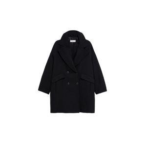 MANGO Přechodný kabát  černá
