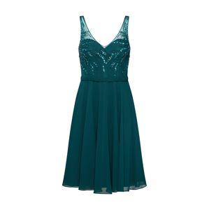 Mascara Koktejlové šaty 'BEADED CHIFFON'  tmavě zelená
