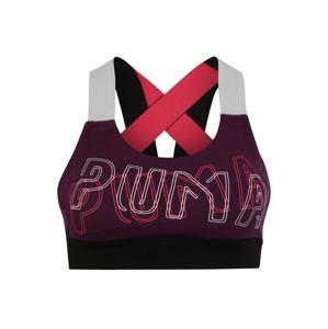 PUMA Sportovní podprsenka 'Feel It'  švestková / pink / bílá