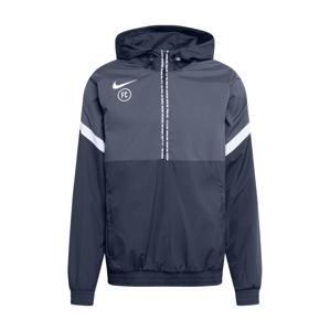 NIKE Sportovní bunda  antracitová / tmavě šedá / bílá