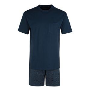 SCHIESSER Pyžamo krátké  tmavě modrá / šedý melír