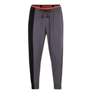 PUMA Sportovní kalhoty 'Collective'  černá / šedobéžová / korálová